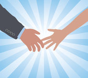 Vector hands of a man and a woman Royalty Free Stock Photography