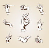 Vector hands Stock Photography