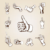 Vector hands Royalty Free Stock Photography