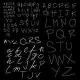 Vector handwriting font Stock Images