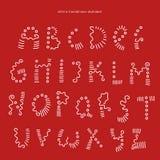 Vector handwritten alphabet royalty free illustration