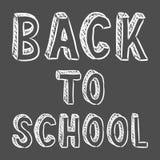 Vector handwritten back to school sign Stock Photo