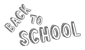 Vector handwritten back to school sign Royalty Free Stock Photo