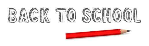 Vector handwritten back to school sign Stock Image