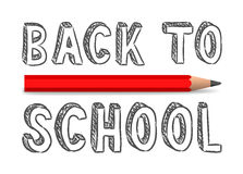 Vector handwritten back to school sign Royalty Free Stock Images
