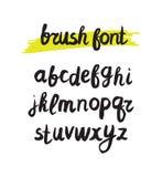 Vector handwritten brush alphabet on white background. Hand draw. N calligraphic font. Stylized Lettering stock illustration
