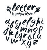 Vector handwritten brush script Royalty Free Stock Photos