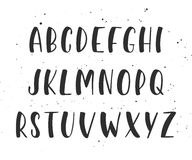 Vector handwritten brush script. English alphabet. Stock Image
