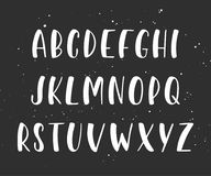 Vector handwritten brush script. English alphabet. Royalty Free Stock Image