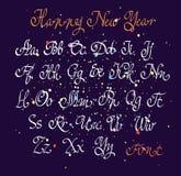 Vector handwritten calligraphic font Stock Image