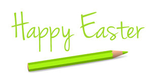Vector handwritten easter greeting Royalty Free Stock Image