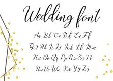 Gold wedding font Stock Photography