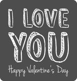 Vector handwritten valentine greeting Stock Photos