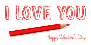 Vector handwritten valentine greeting Royalty Free Stock Photo