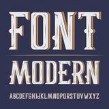 Vector handy crafted modern label font. On dark background.  vector illustration