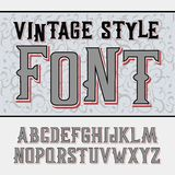 Vector handy crafted vintage label font. High tower Royalty Free Illustration
