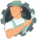 Vector Handyman design Stock Image