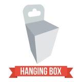 Vector Hangende doos Stock Afbeeldingen