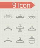 Vector Hanger icon set Royalty Free Stock Photos