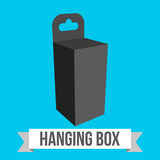 Vector Hanging box Royalty Free Stock Photography