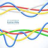 Vector hanging colored cables vector background Royalty Free Stock Images