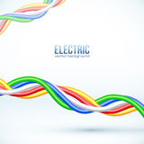 Vector hanging colored cables vector background Royalty Free Stock Photography