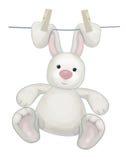 Vector hanging rabbit. Stock Photo