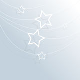 Vector hanging stars background Stock Image