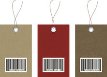 Vector Hangtags with Barcode on textured cardstock Royalty Free Stock Photos