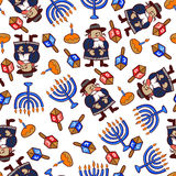 Vector hannukah pattern, jewish winter holidays. Royalty Free Stock Photo