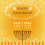 Vector Hanukkah background Stock Photo
