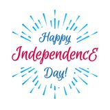 Vector happy american independence day with firework on white background. For poster, sale banner, decoration, greeting card, flyer. Sunburst illustration 10 Stock Photography