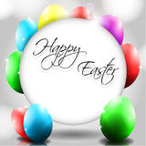 Vector Happy Background with Colorful Eggs. And place for text Stock Images