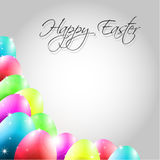 Vector Happy Background with Colorful Eggs. And place for text Stock Image
