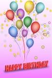 Vector happy birthday stock image