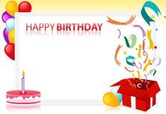 Vector happy birthday Stock Photography
