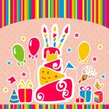 Vector happy birthday background. Greeting card Royalty Free Stock Photo