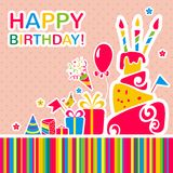 Vector happy birthday background. Greeting card Royalty Free Stock Photos