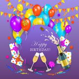 Vector happy birthday banner poster template Stock Photography