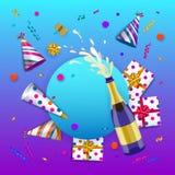 Vector happy birthday banner poster template stock illustration