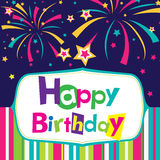 Vector happy birthday card. Banner design Royalty Free Stock Photos