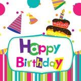 Vector happy birthday card Royalty Free Stock Photo