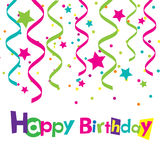 Vector happy birthday card. Banner design Royalty Free Stock Photography