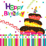 Vector happy birthday card. Banner design Stock Image