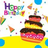 Vector happy birthday card Stock Photography