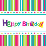 Vector happy birthday card. Banner design Royalty Free Stock Photo