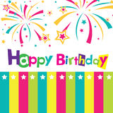 Vector happy birthday card. Banner design Royalty Free Stock Images
