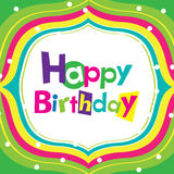Vector happy birthday card Stock Photos