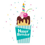 Vector happy birthday card Stock Photography