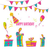 Vector happy birthday card. Colorful happy birthday design can be used for happy birthday banners, promo, happy birthday Royalty Free Stock Photo